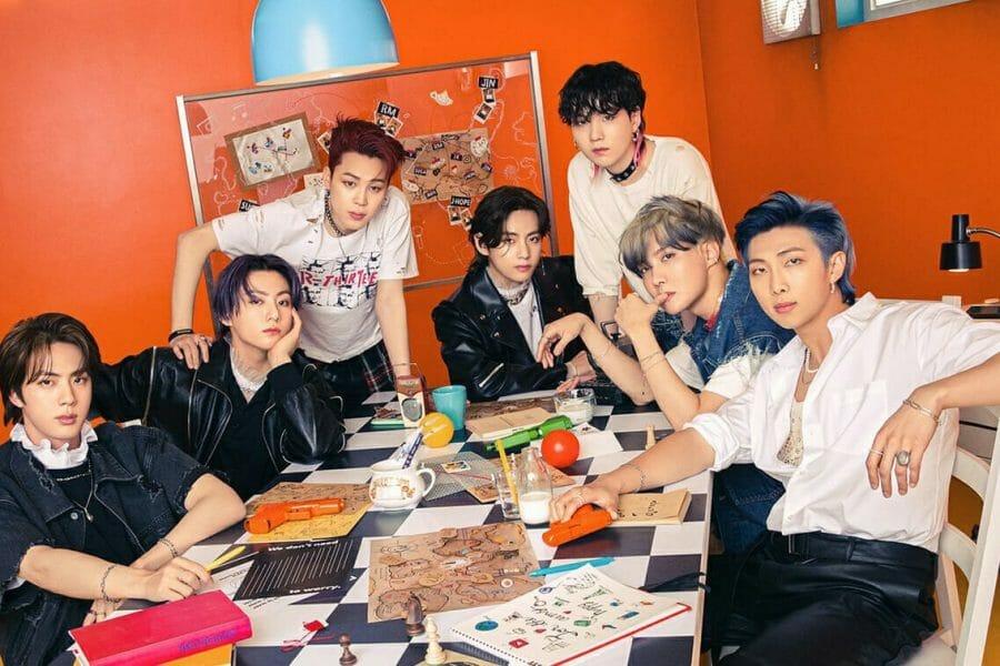Membros da banda de k-pop BTS