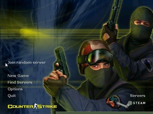 Tela do Counter-Strike 1.6