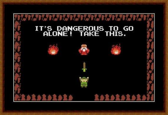 Easter egg fazendo referência ao jogo Zelda